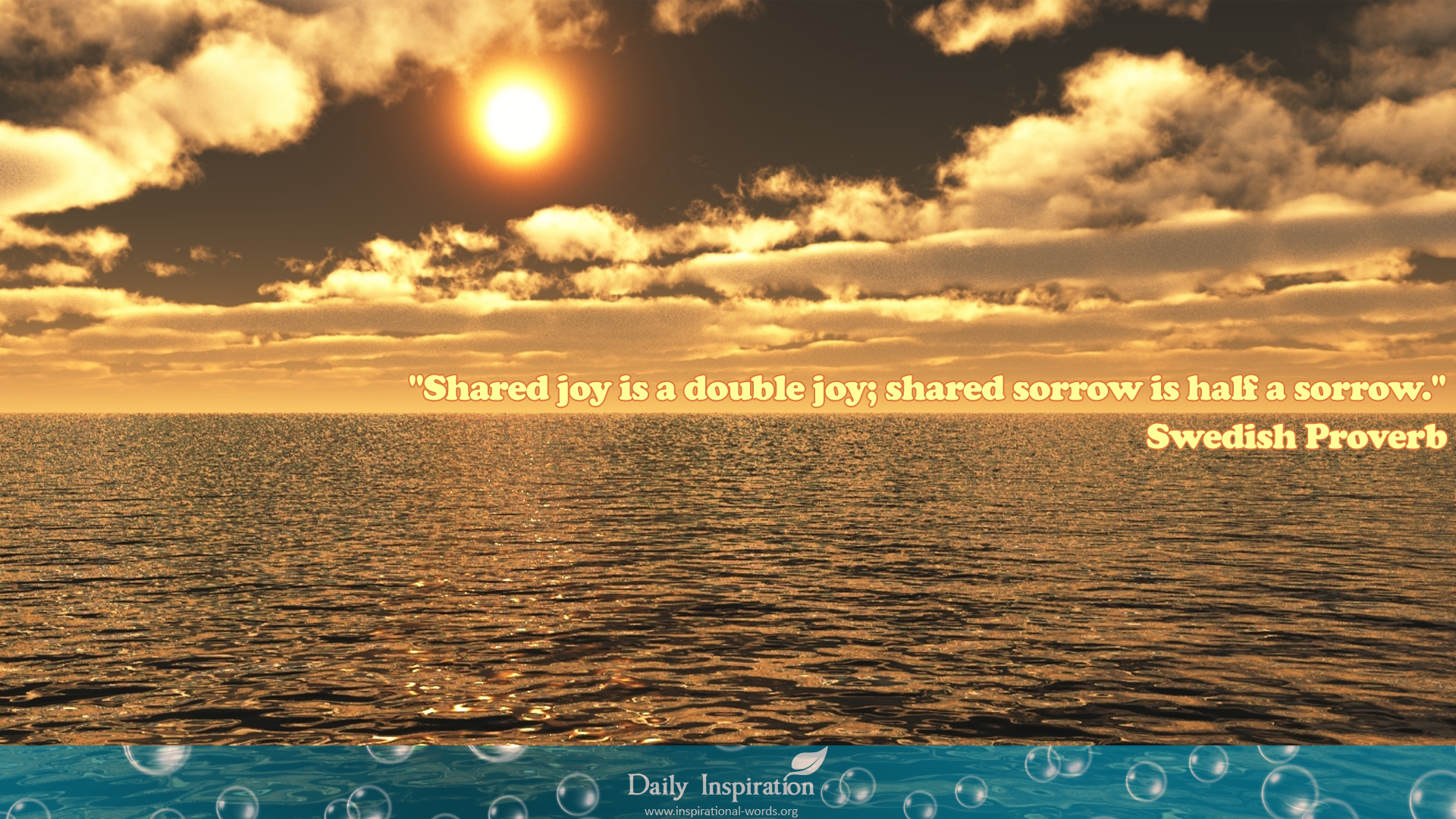 Swedish Proverb shared joy
