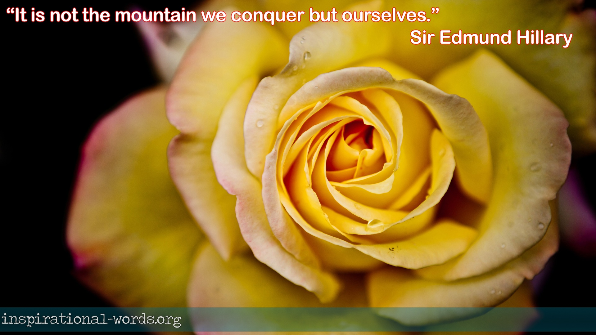 Sir Edmund Hillary inspirational words