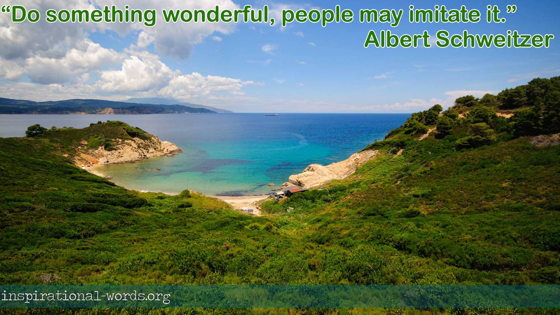 Albert Schweitzer inspirational wallpaper