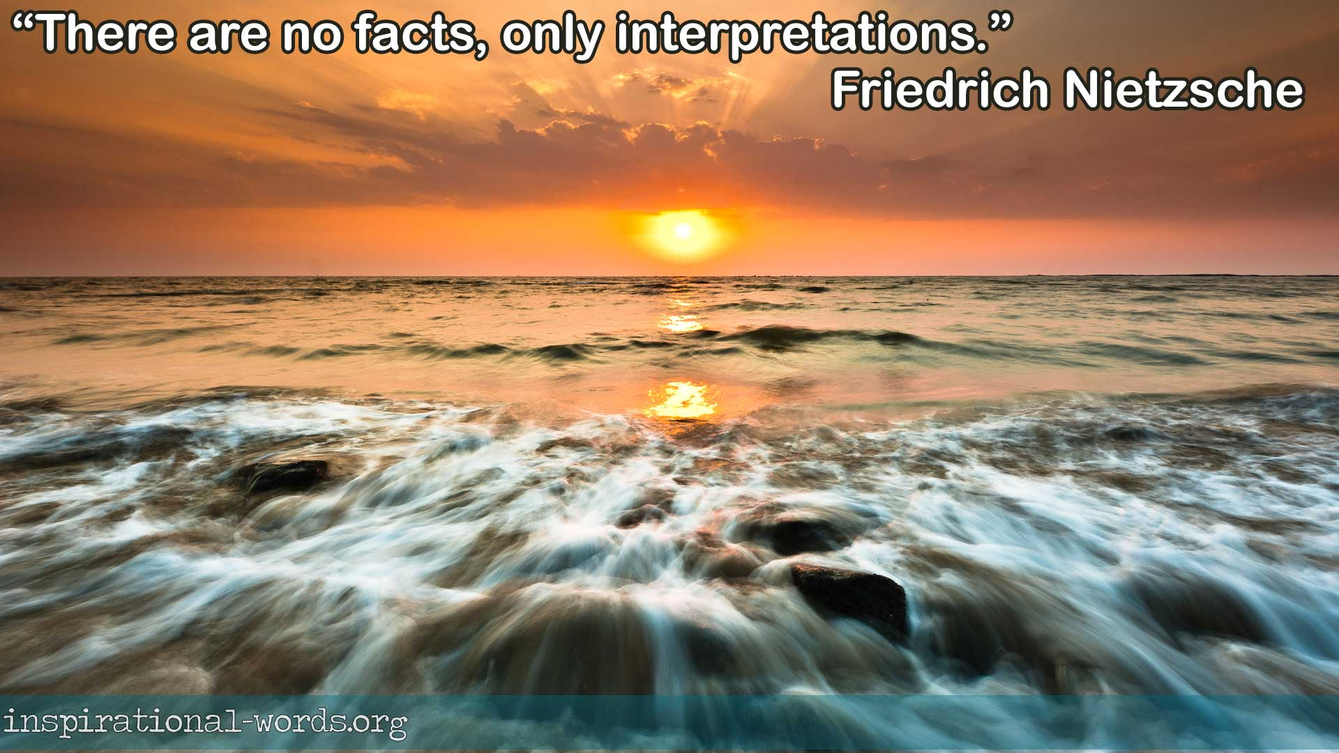 Friedrich Nietzsche inspirational wallpaper
