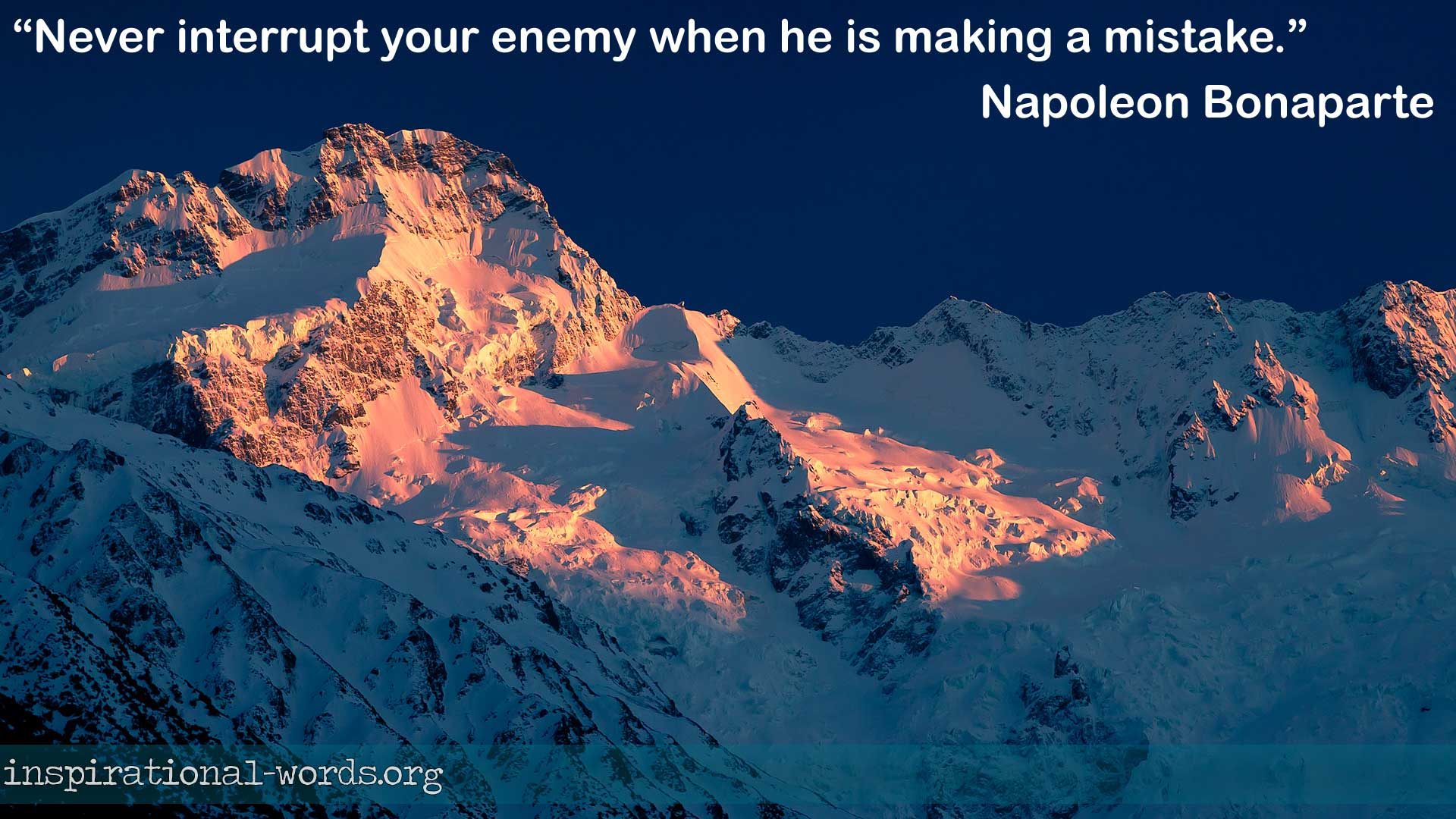 Napoleon Bonaparte inspirational wallpaper