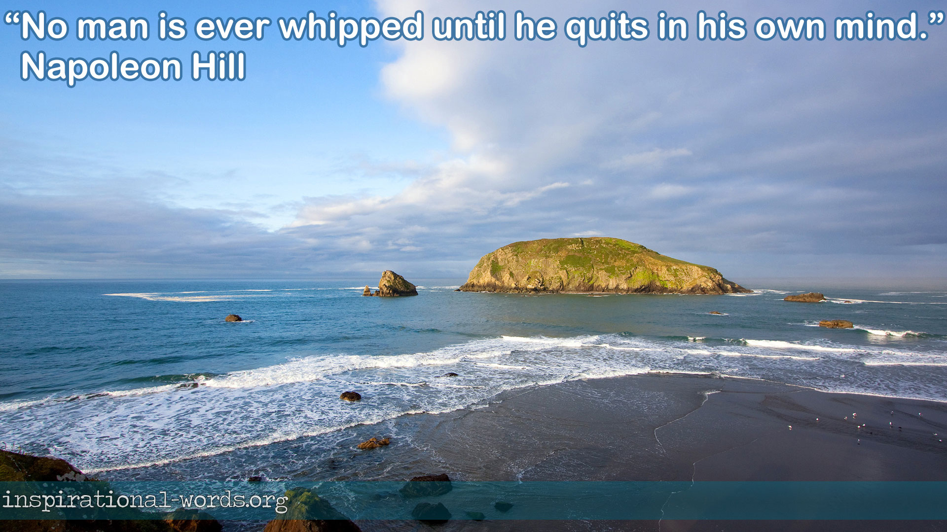 Napoleon Hill inspirational wallpaper
