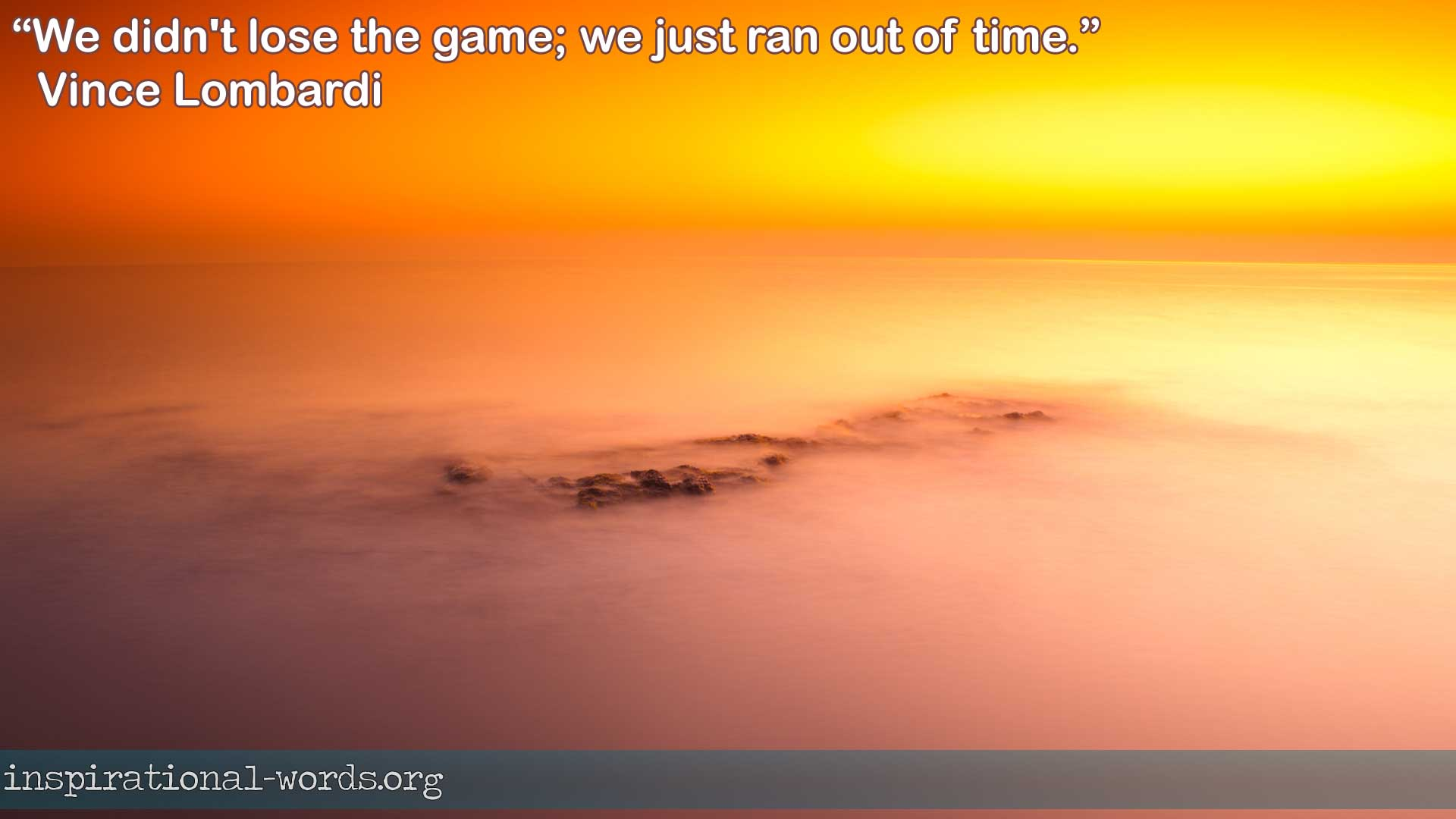 Vince Lombardi inspirational wallpaper