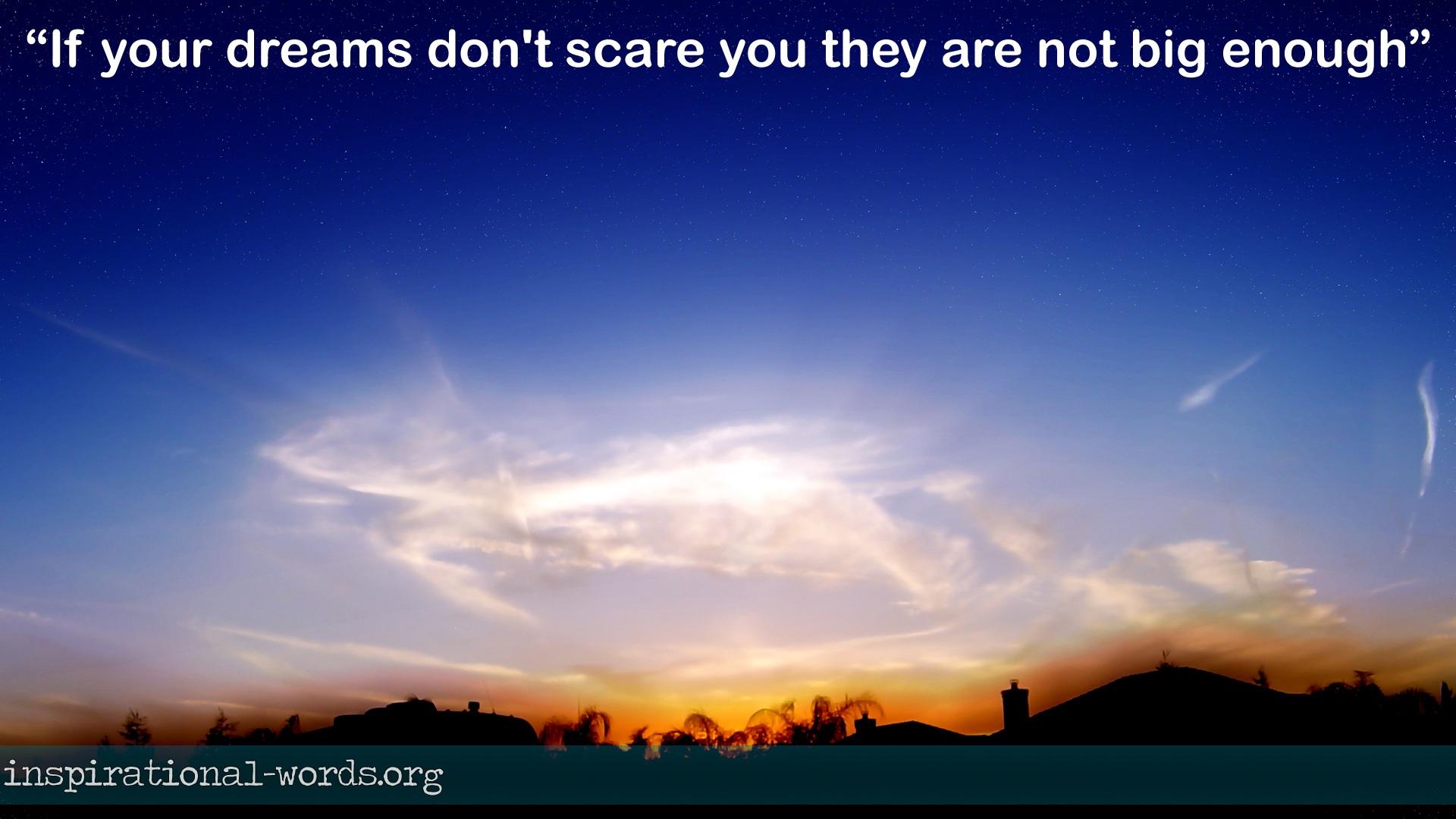 Inspirational Wallpaper Quote. Big Dreams