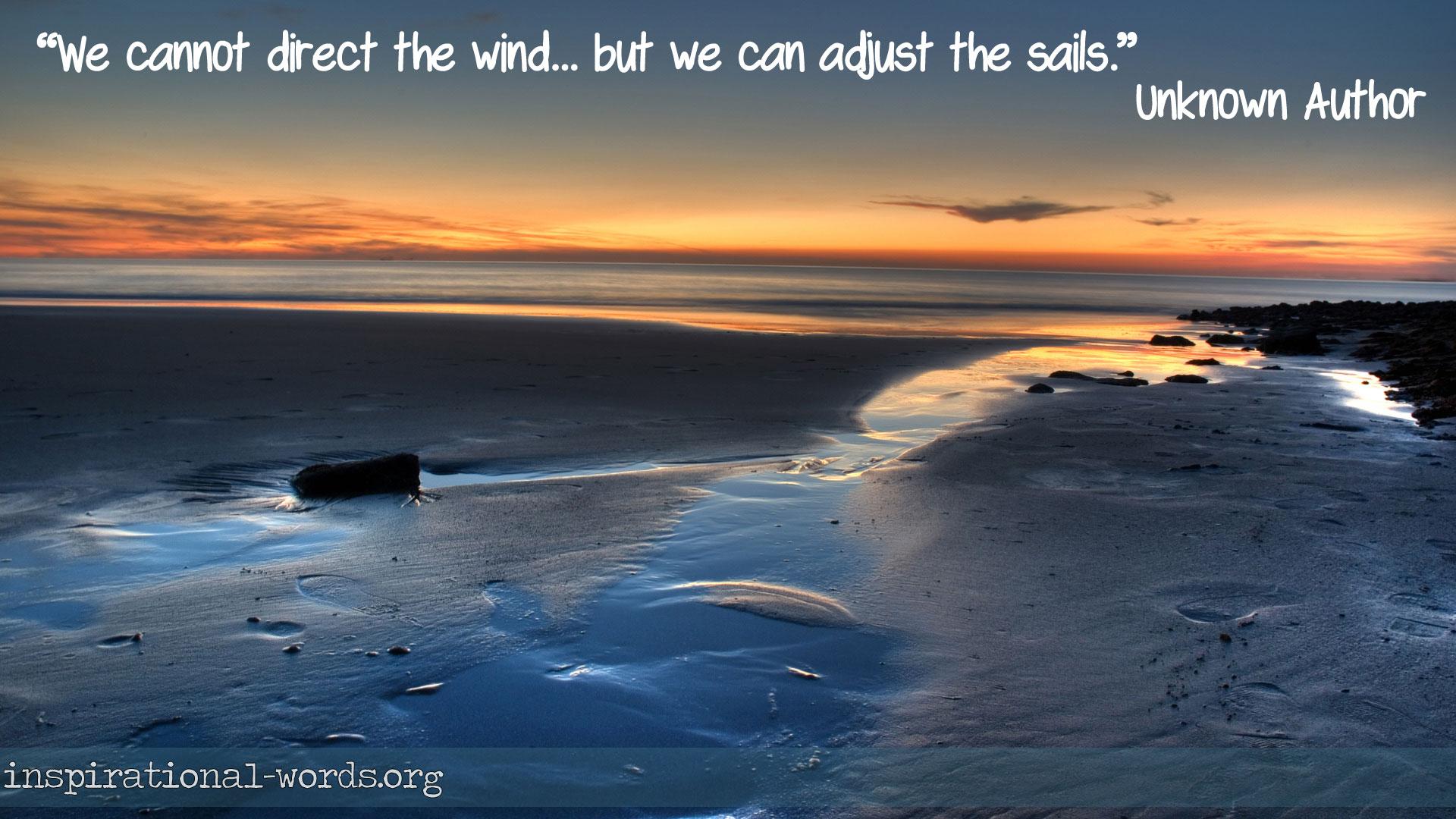 ajust the sail