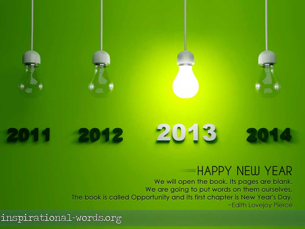 Inspirational Wallpaper New Year 2013
