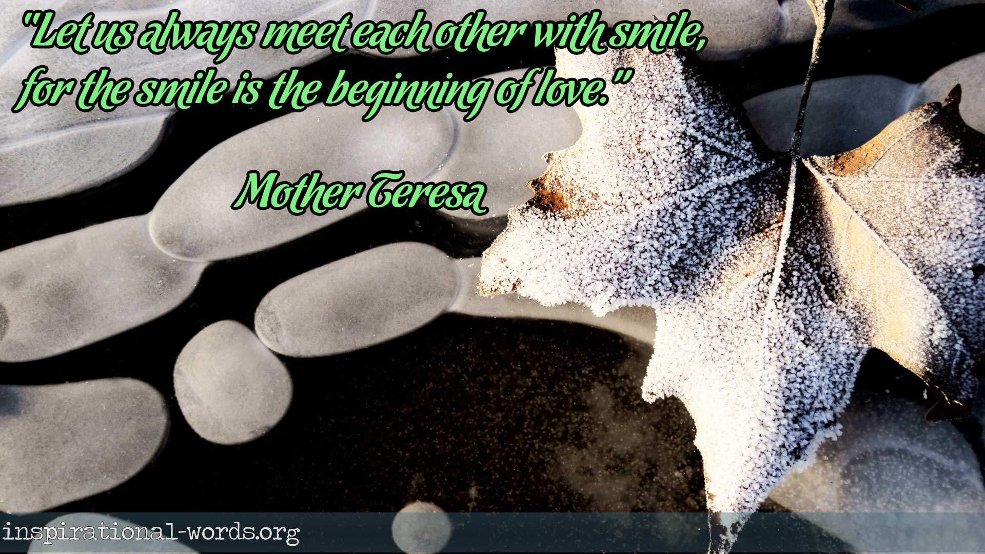 Inspirational Wallpaper Quote: Mother Teresa