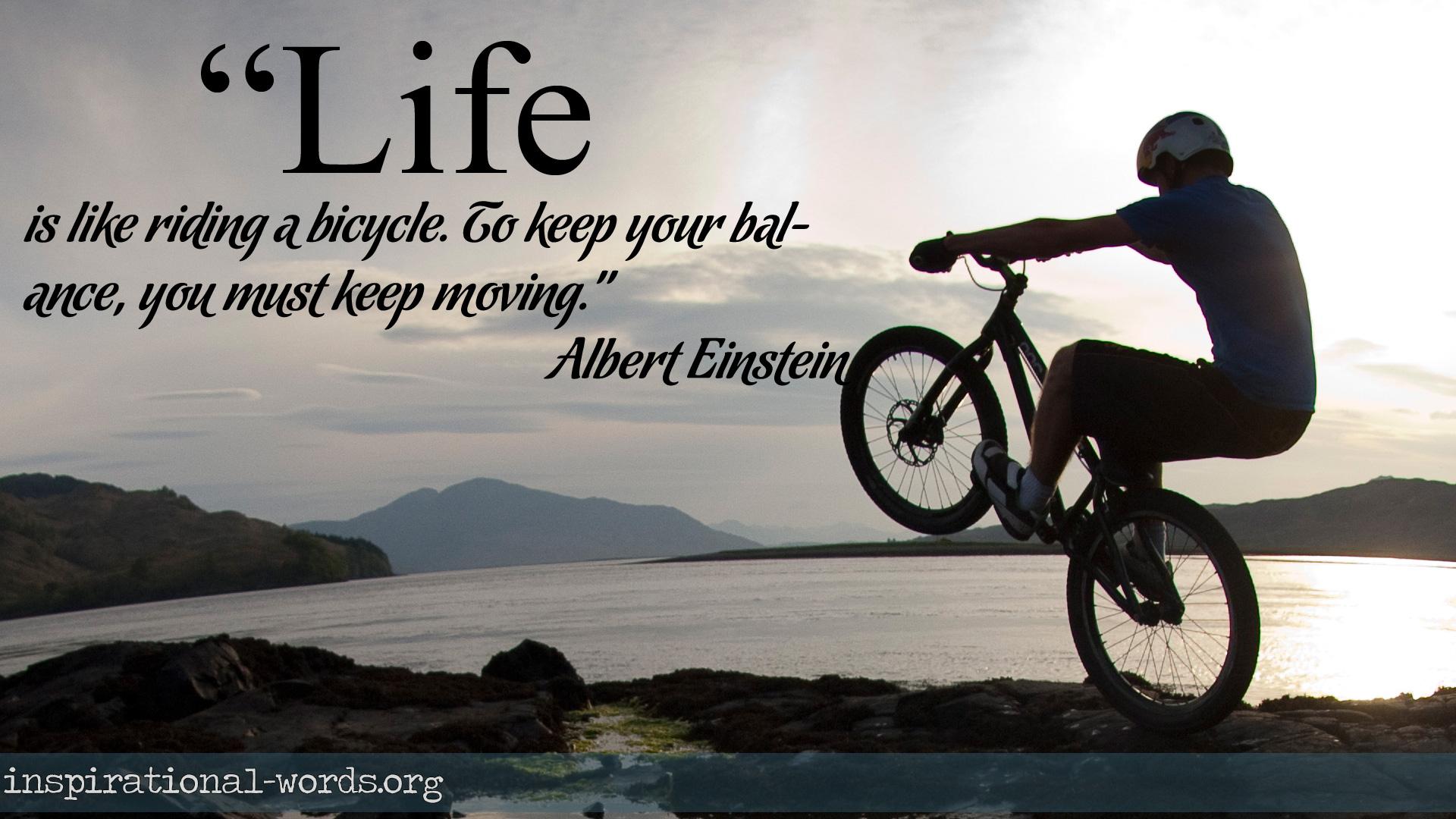 Inspirational Wallpaper Quote by Albert Einstein