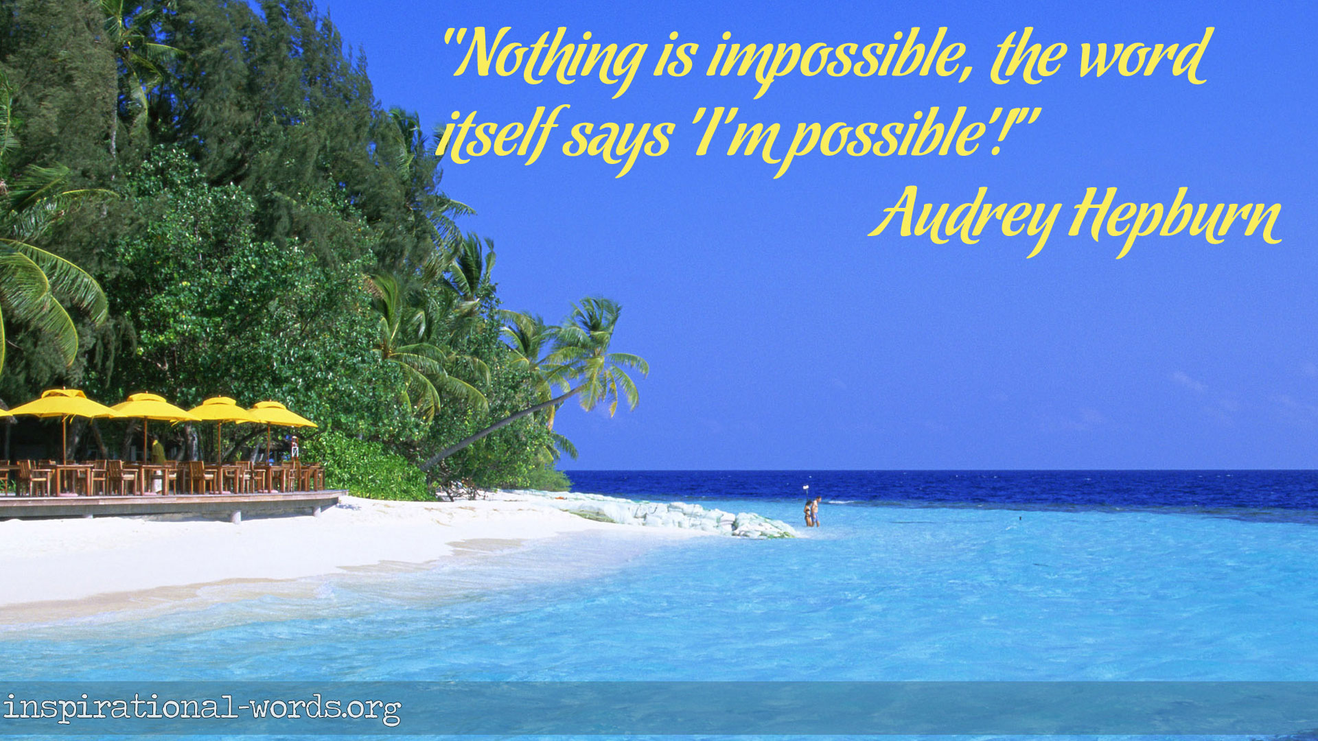 Inspirational Wallpaper Quote by Audrey Hepburn