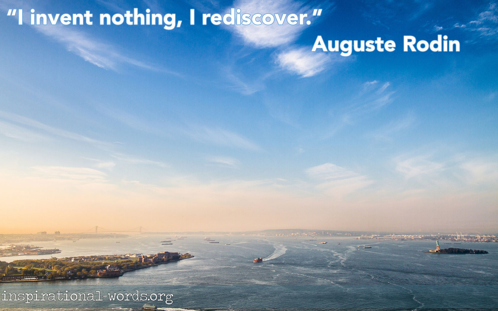 Inspirational Wallpaper Quote by Auguste Rodin