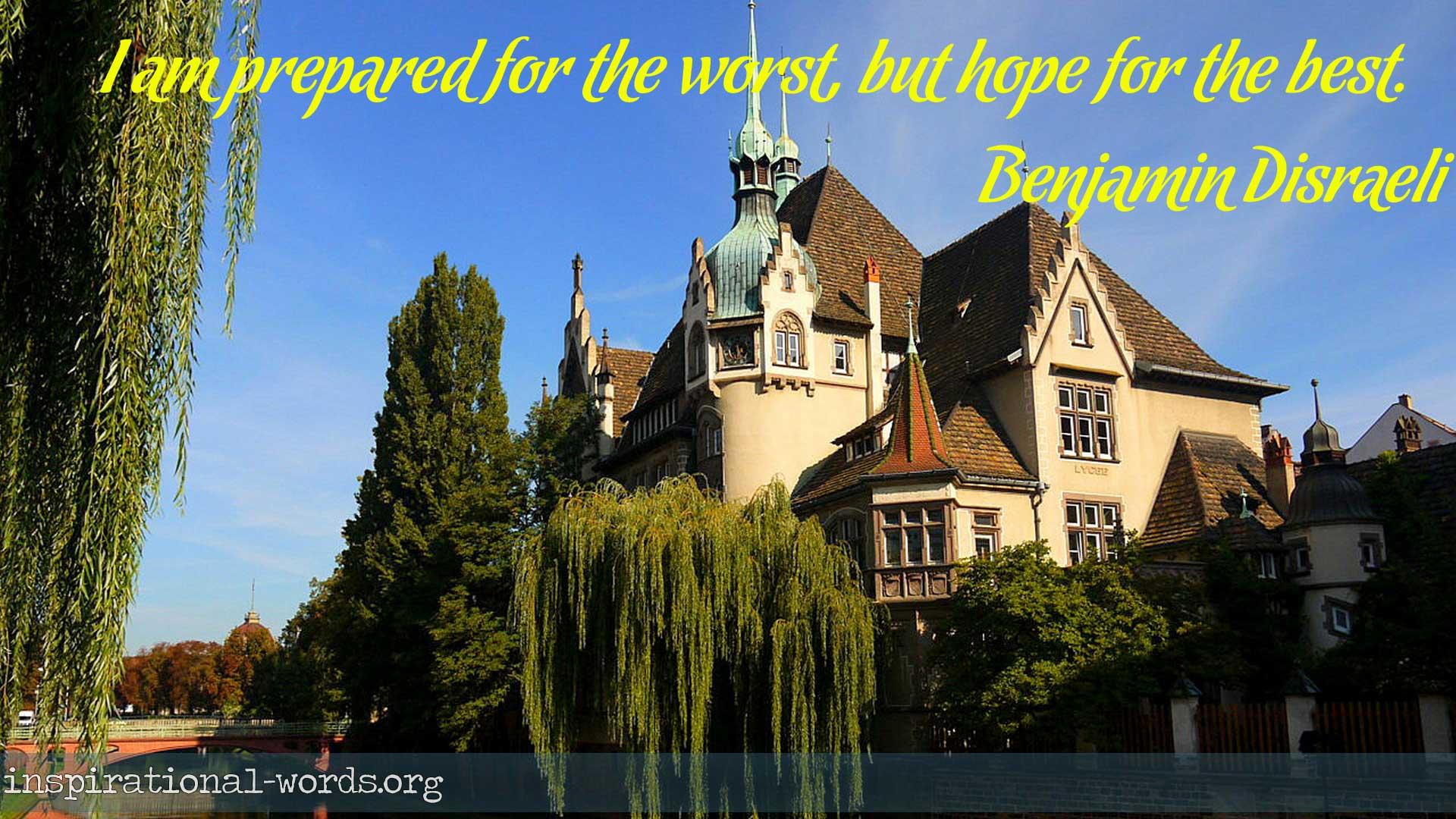 Inspirational Wallpaper Quote by Benjamin Disraeli