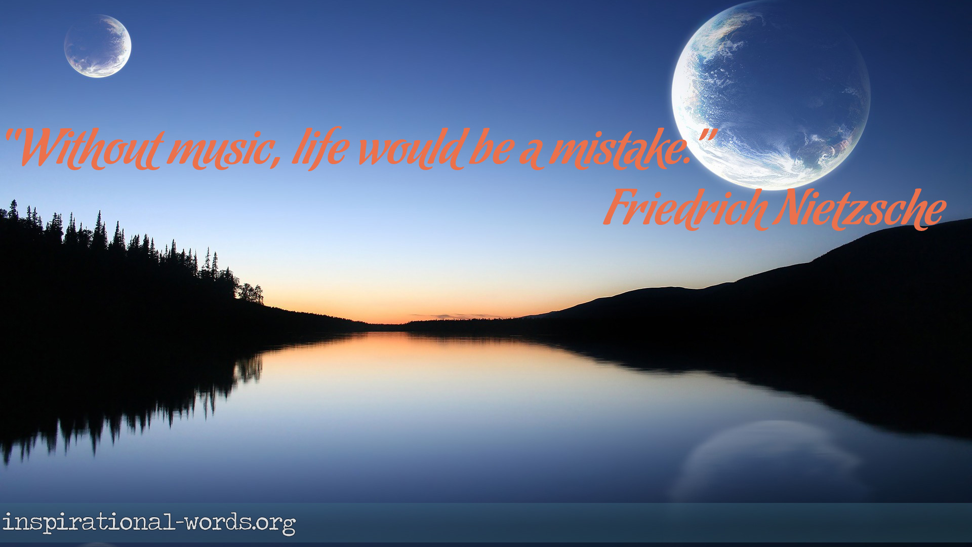 Inspirational Wallpaper Quote by Friedrich Nietzsche