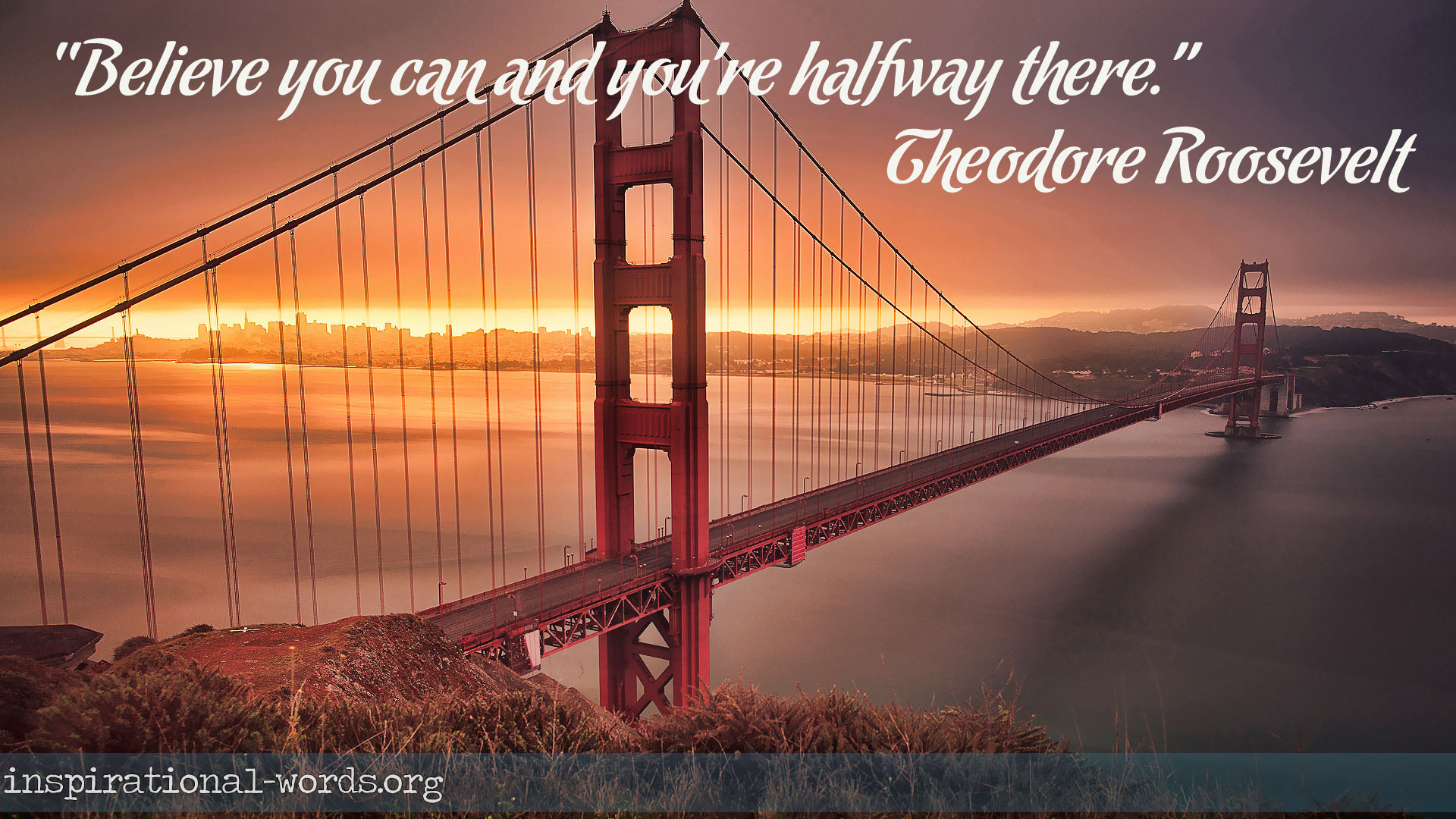Inspirational Wallpaper Quote by Theodore Roosevelt