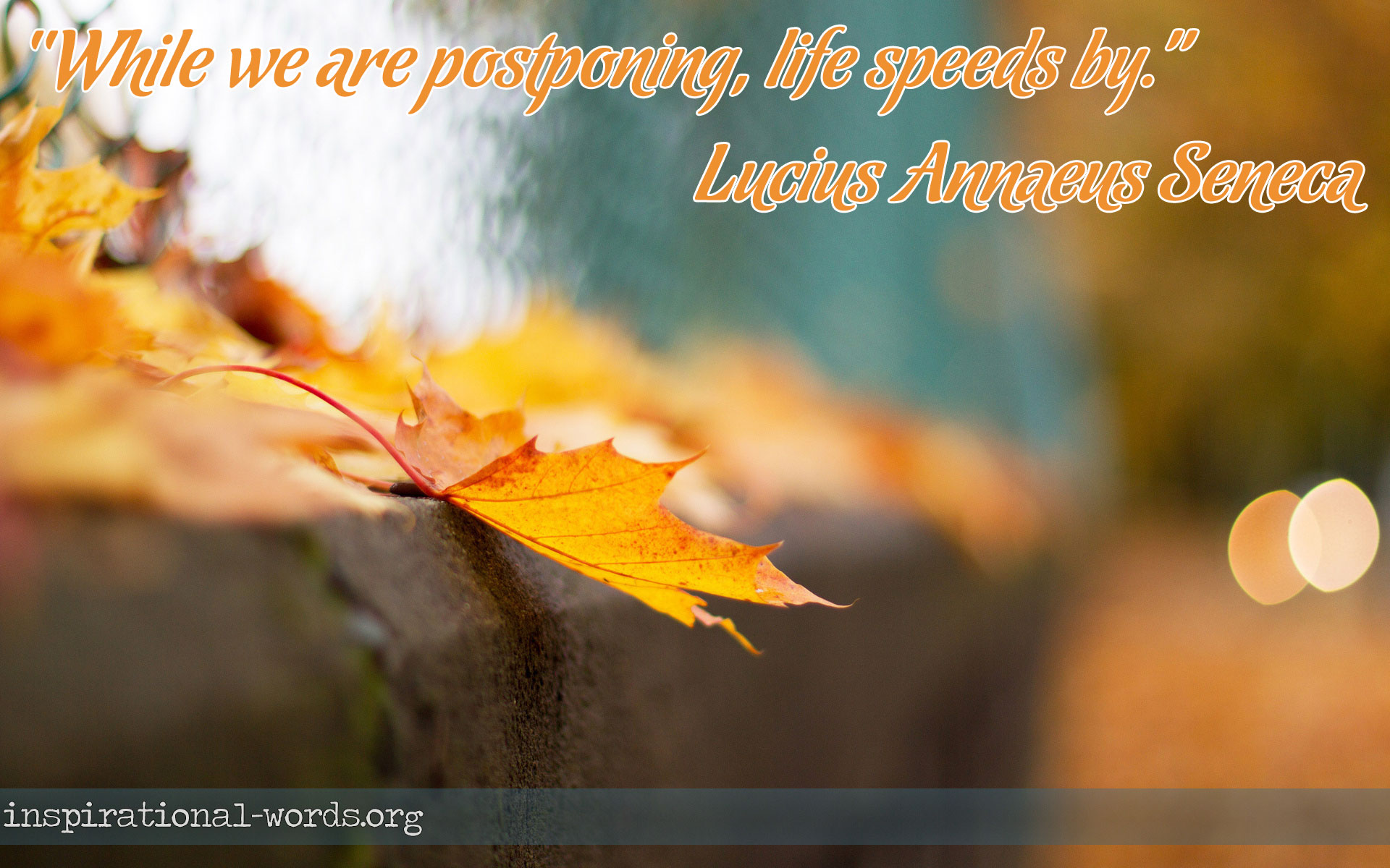 Inspirational Wallpaper Quote by Lucius Annaeus Seneca