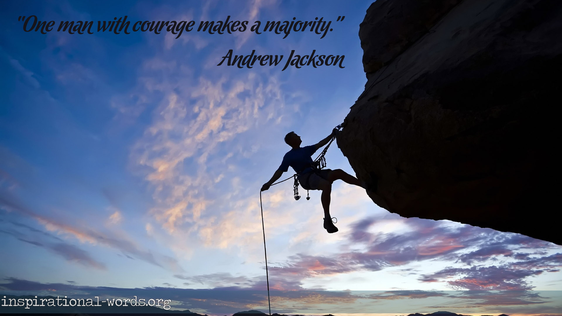 Inspirational Wallpaper Quote by Andrew Jackson