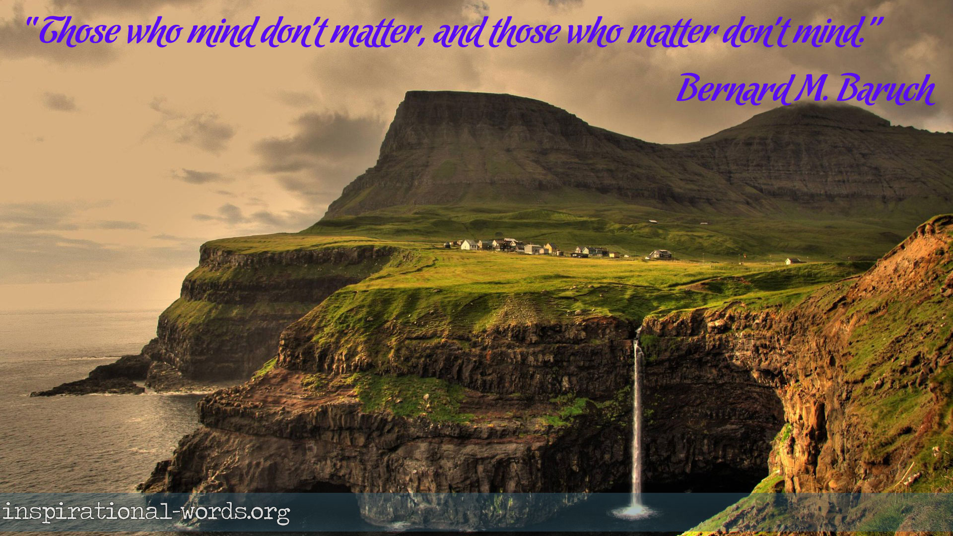 Inspirational Wallpaper Quote by Bernard M. Baruch