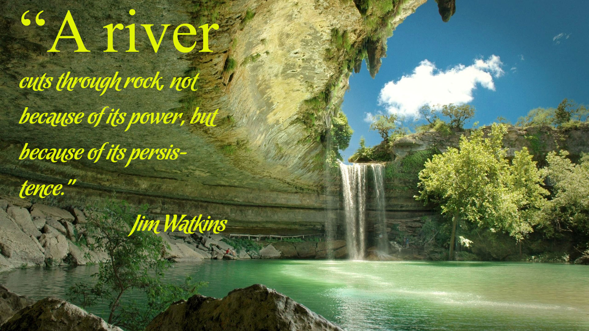 Inspirational Wallpaper Quote by Jim Watkins