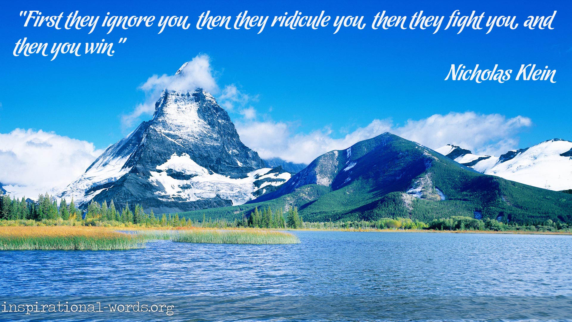 Inspirational Wallpaper Quote by Nicholas Klein