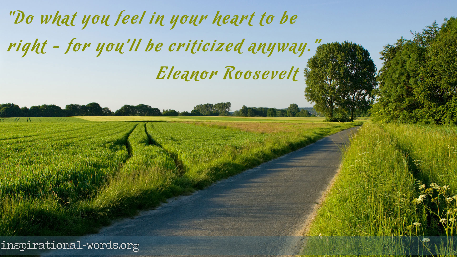 Inspirational Wallpaper Quote by Eleanor Roosevelt