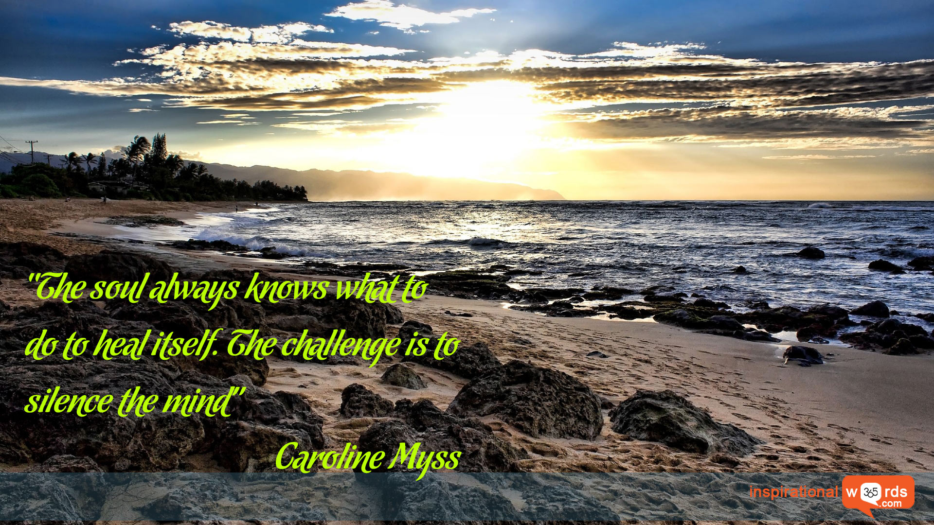 Inspirational Wallpaper Quote by Caroline Myss