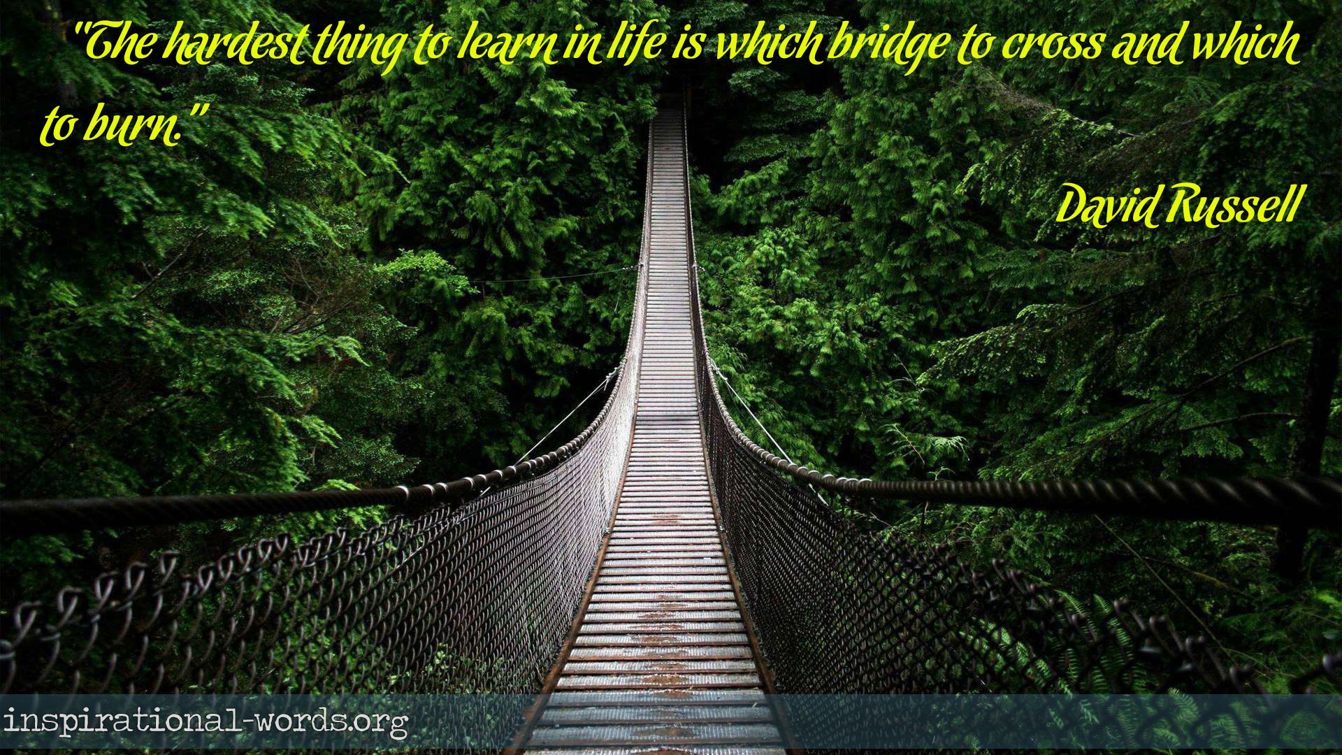 Inspirational Wallpaper Quote by David Russell