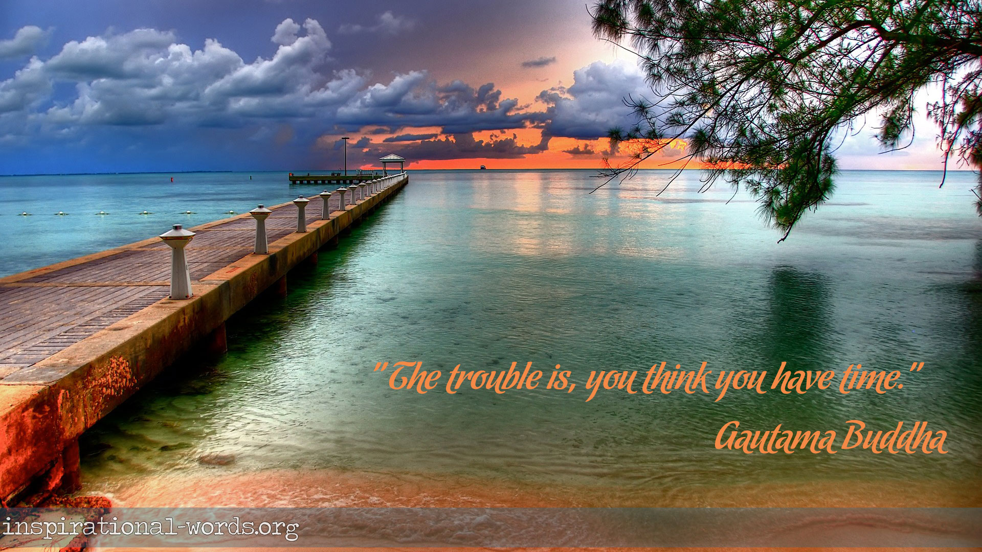 Inspirational Wallpaper Quote by Gautama Buddha