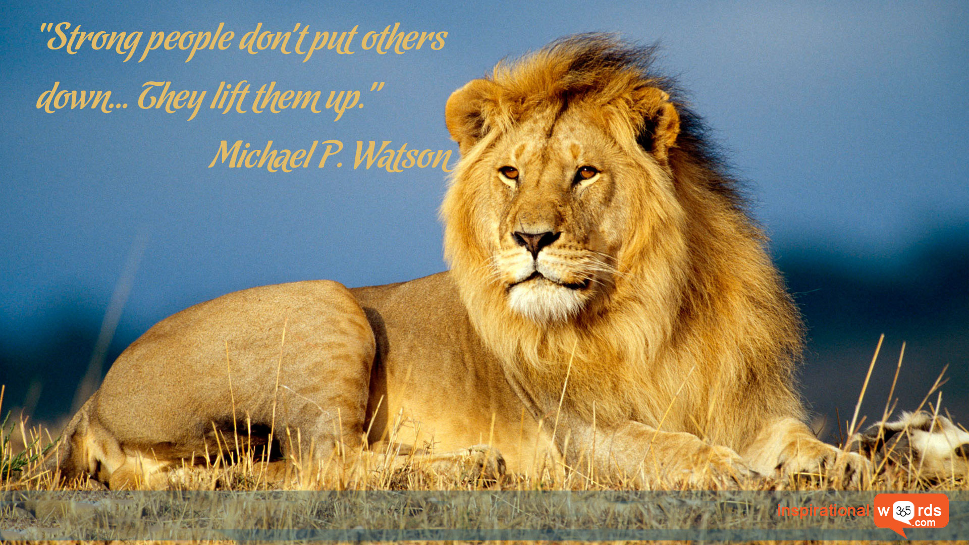 Inspirational Wallpaper Quote by Michael P. Watson