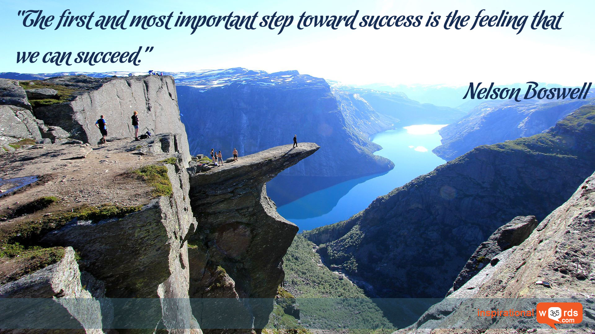 Inspirational Wallpaper Quote by Nelson Boswell