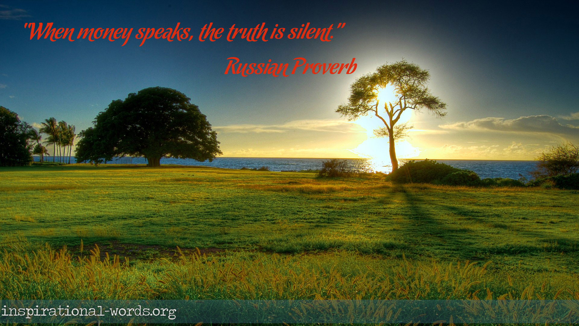 Inspirational Wallpaper Quote. Russian Proverb