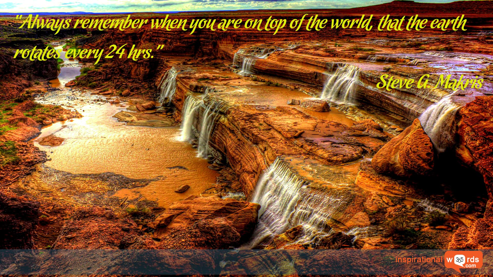 Inspirational Wallpaper Quote by Steve G. Makris