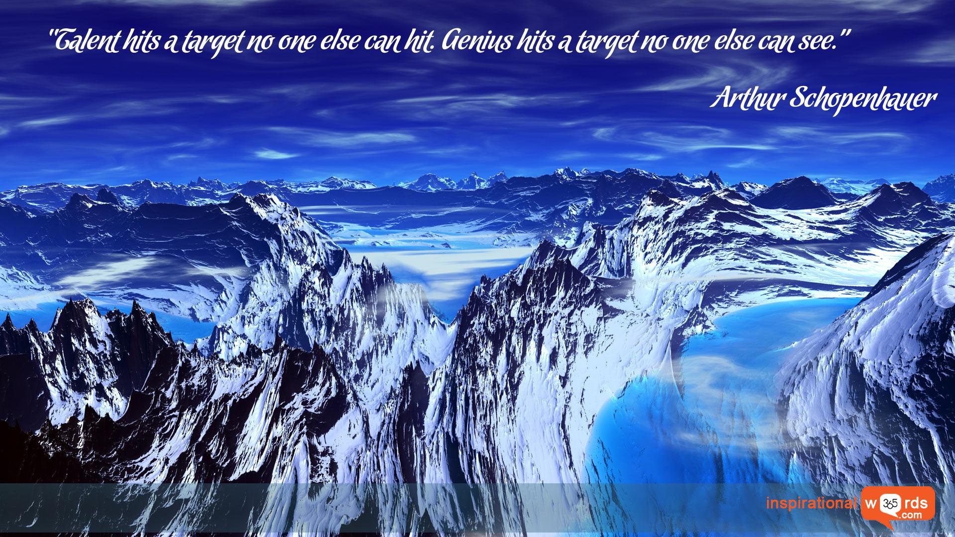 Inspirational Wallpaper Quote by Arthur Schopenhauer