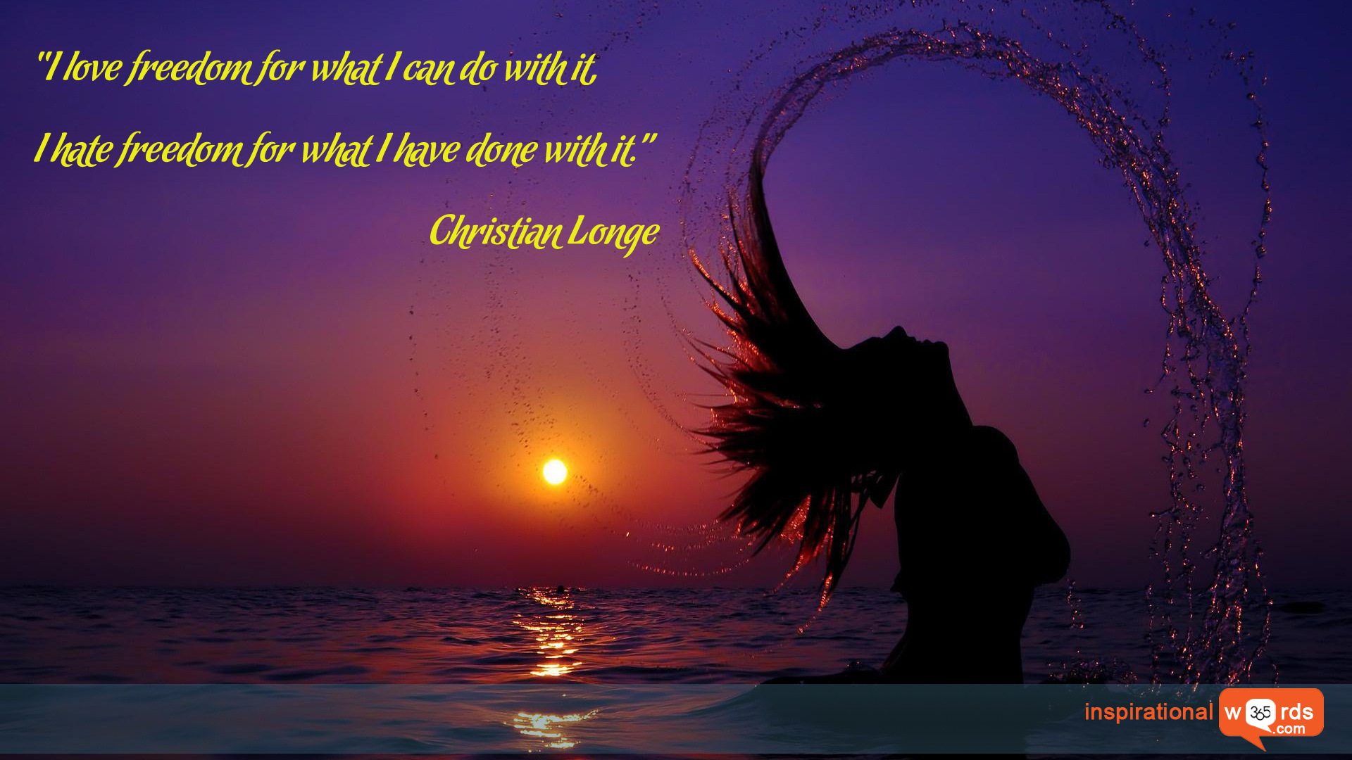 Inspirational Wallpaper Quote by Christian Longe