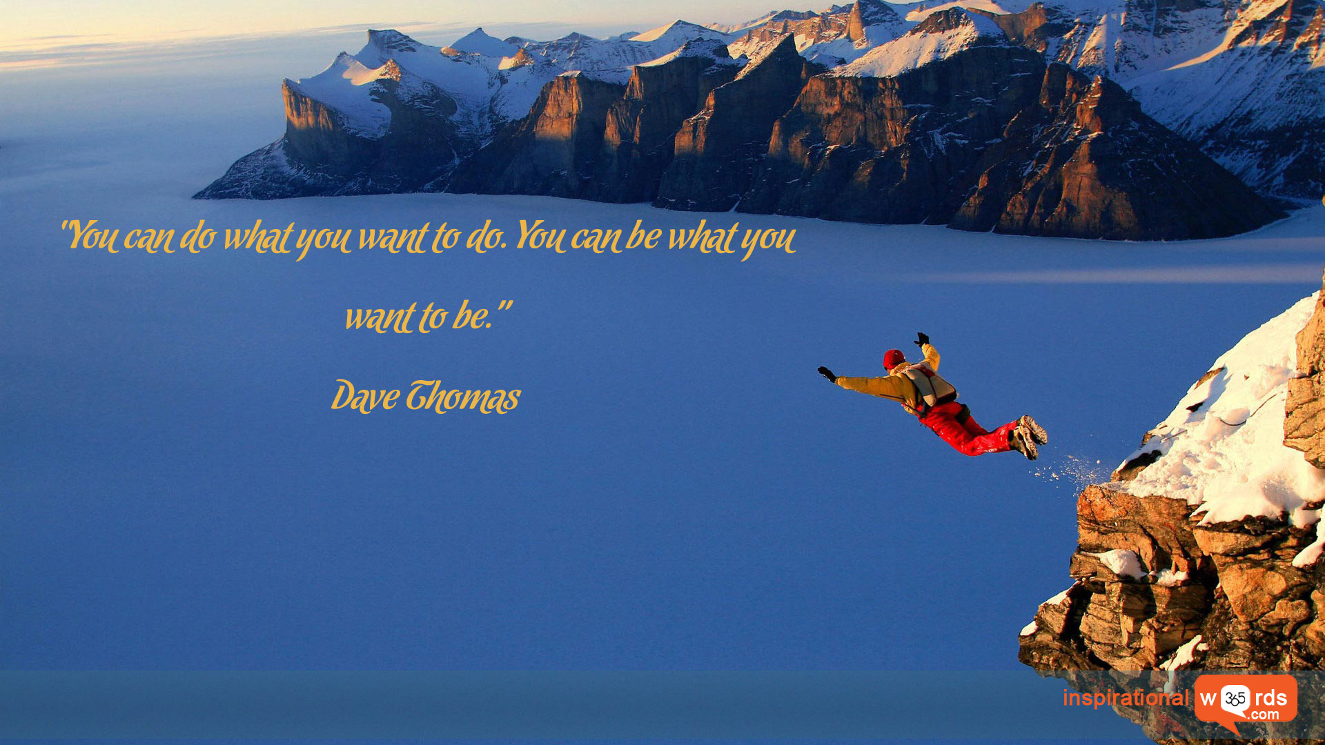 Inspirational Wallpaper Quote by Dave Thomas