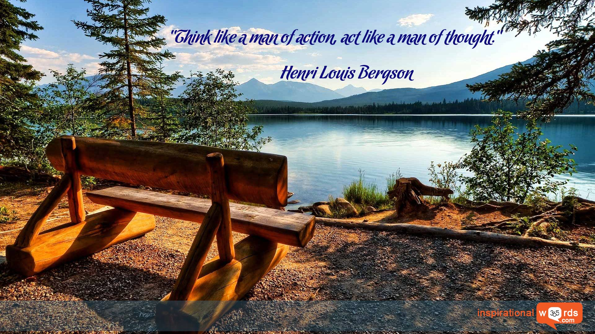 Inspirational Wallpaper Quote by Henri Louis Bergson