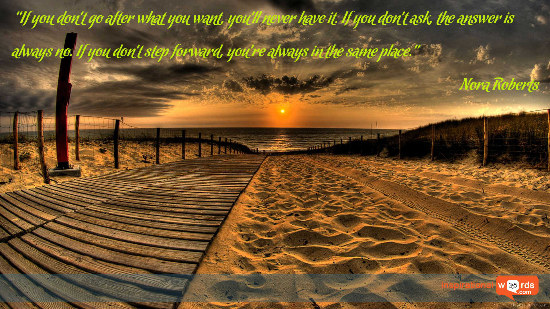 Inspirational Wallpaper Quote by Nora Roberts