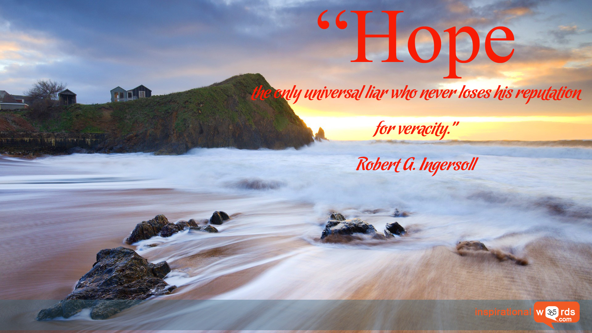 Inspirational Wallpaper Quote by Robert G. Ingersoll