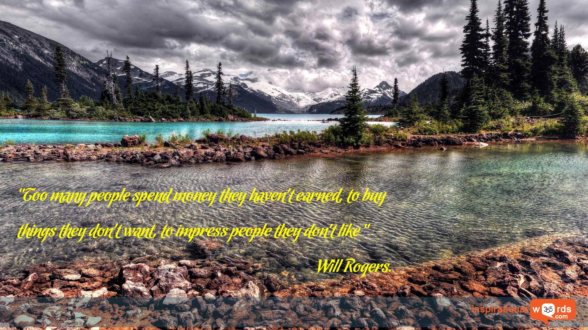 Inspirational Wallpaper Quote by Will Rogers