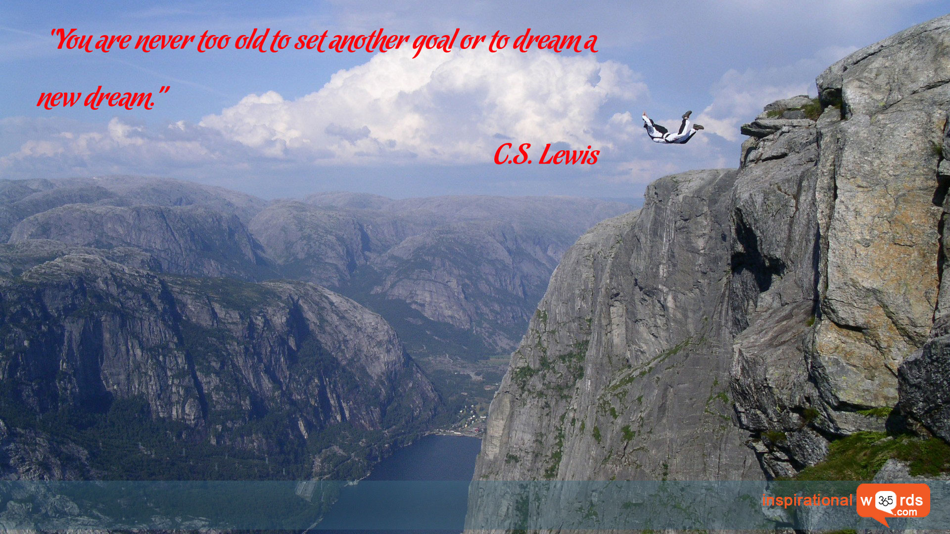 Inspirational Wallpaper Quote by C.S. Lewis