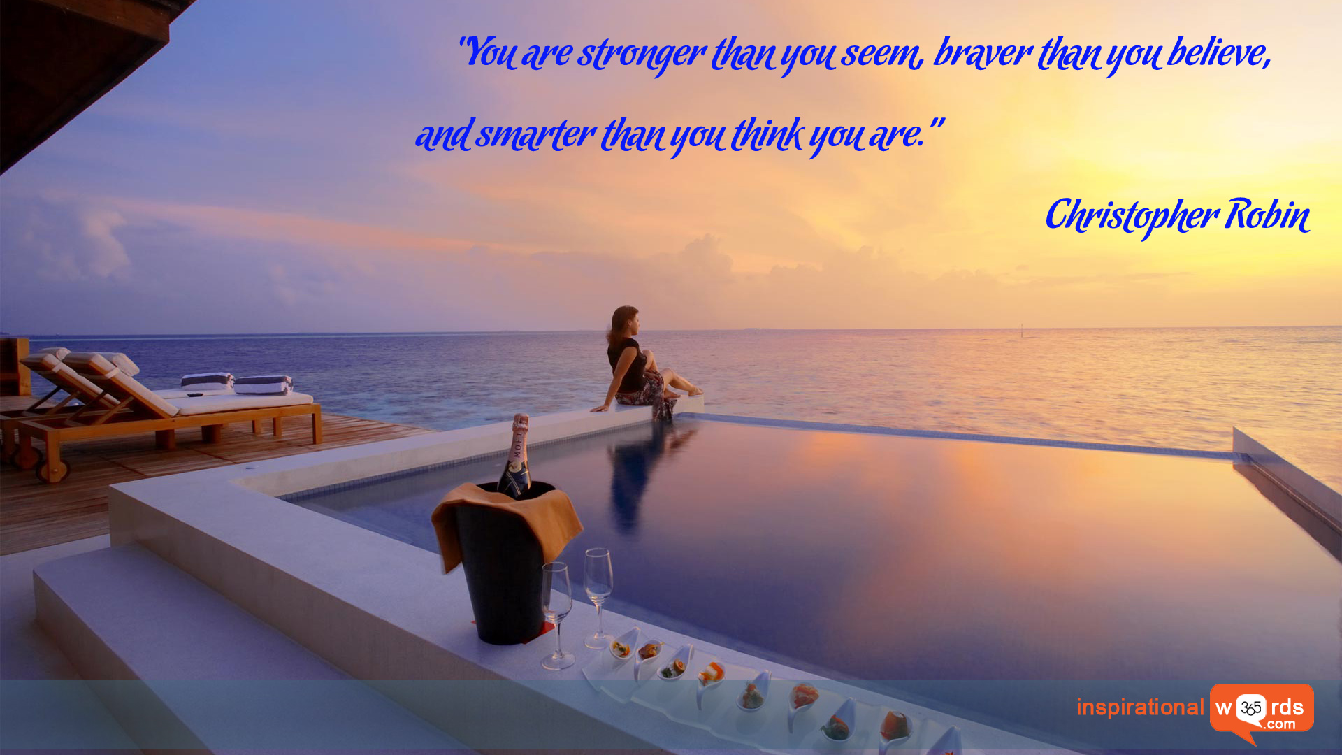 Inspirational Wallpaper Quote by Christopher Robin