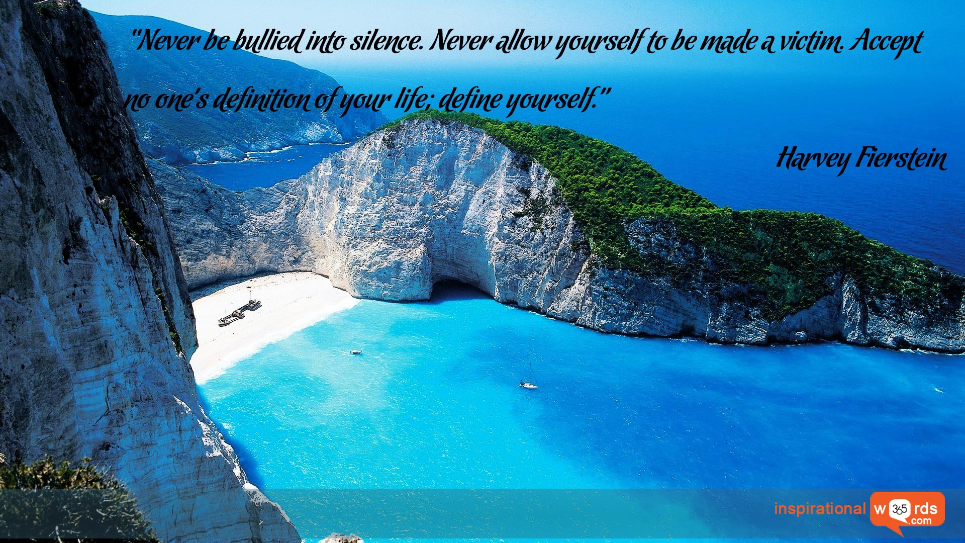 Inspirational Wallpaper Quote by Harvey Fierstein