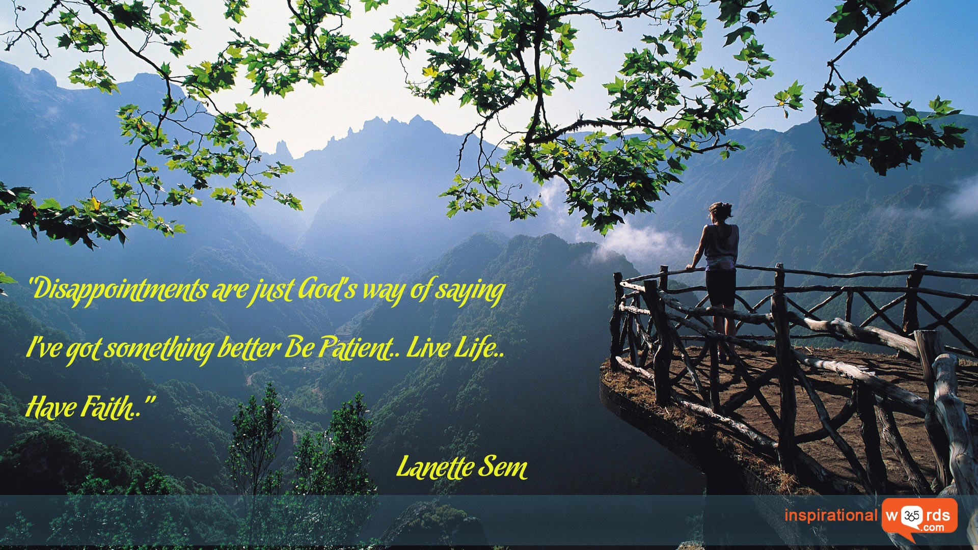 Inspirational Wallpaper Quote by Lanette Sem