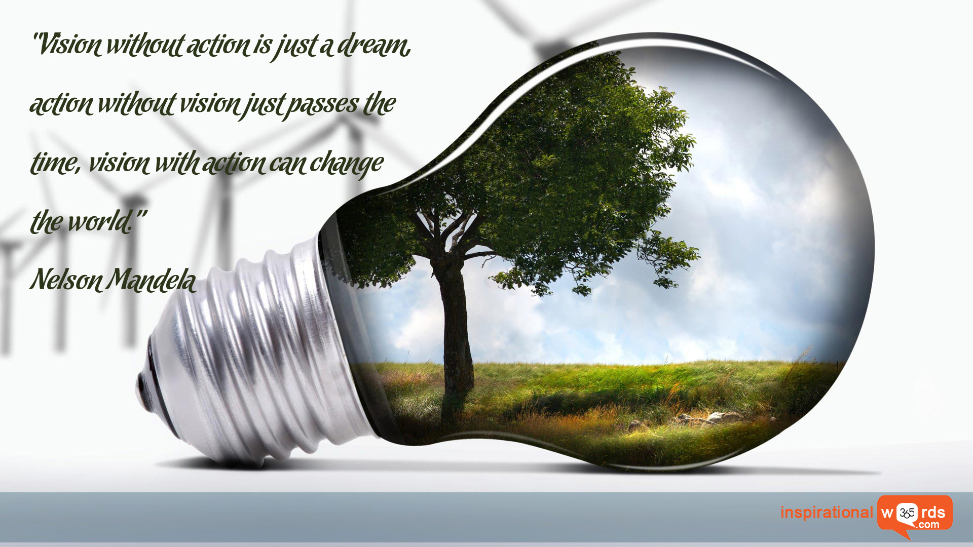 Inspirational Wallpaper Quote by Nelson Mandela