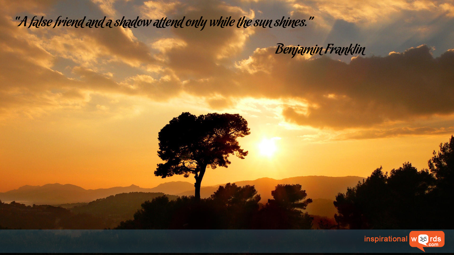 Inspirational Wallpaper Quote by Benjamin Franklin
