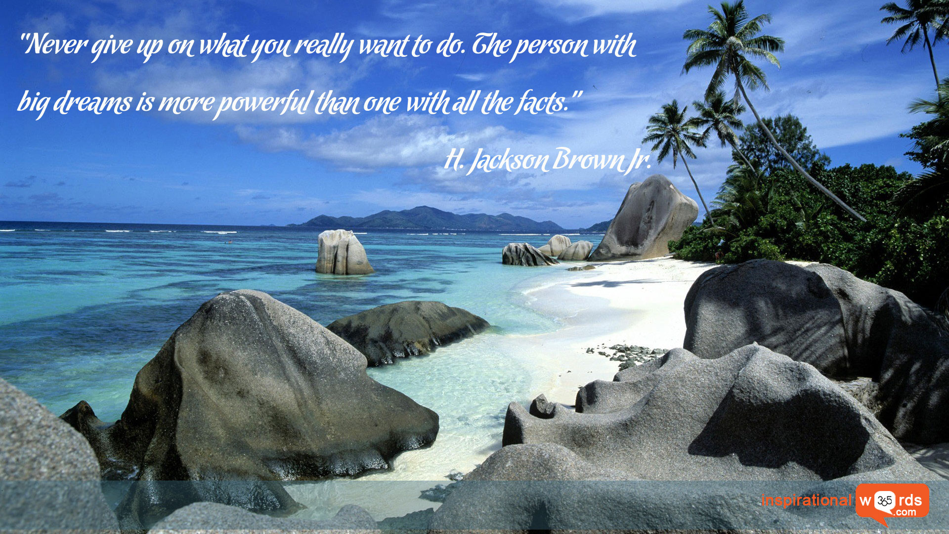 Inspirational Wallpaper Quote by H. Jackson Brown Jr.
