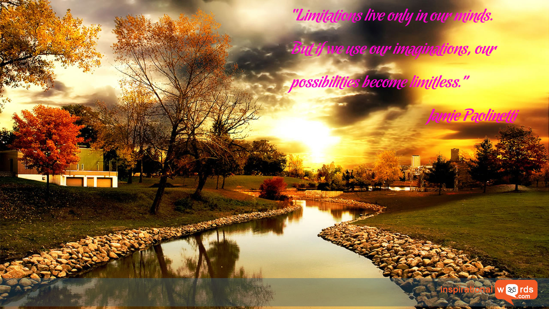 Inspirational Wallpaper Quote by Jamie Paolinetti