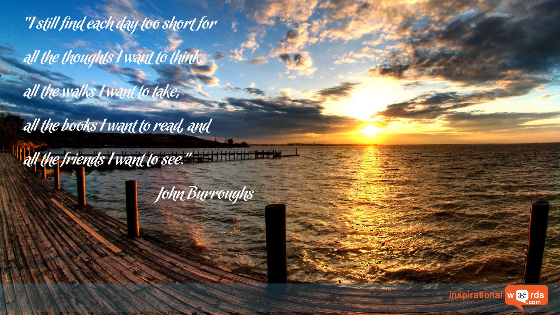 Inspirational Wallpaper Quote by John Burroughs