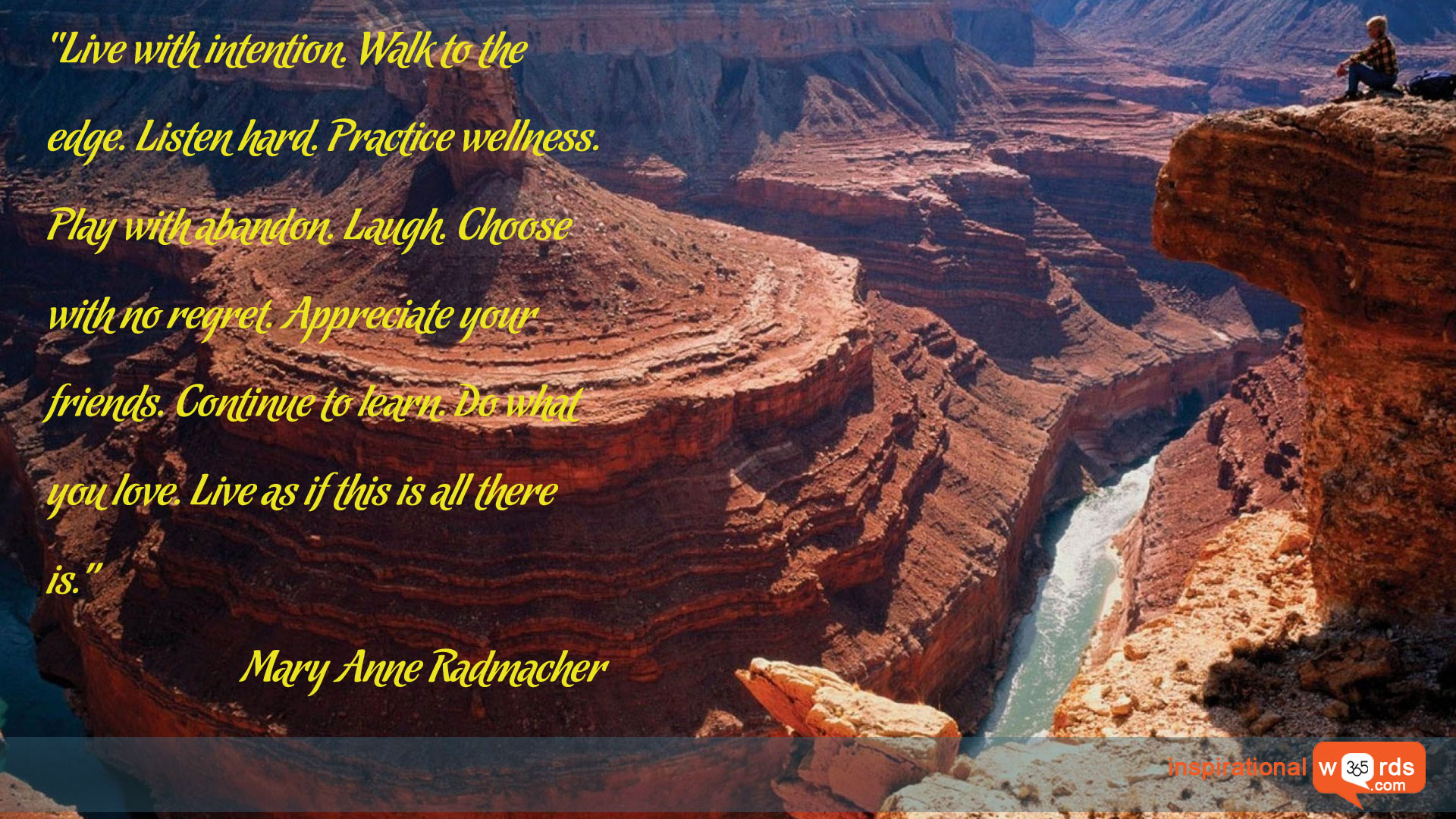 Inspirational Wallpaper Quote by Mary Anne Radmacher