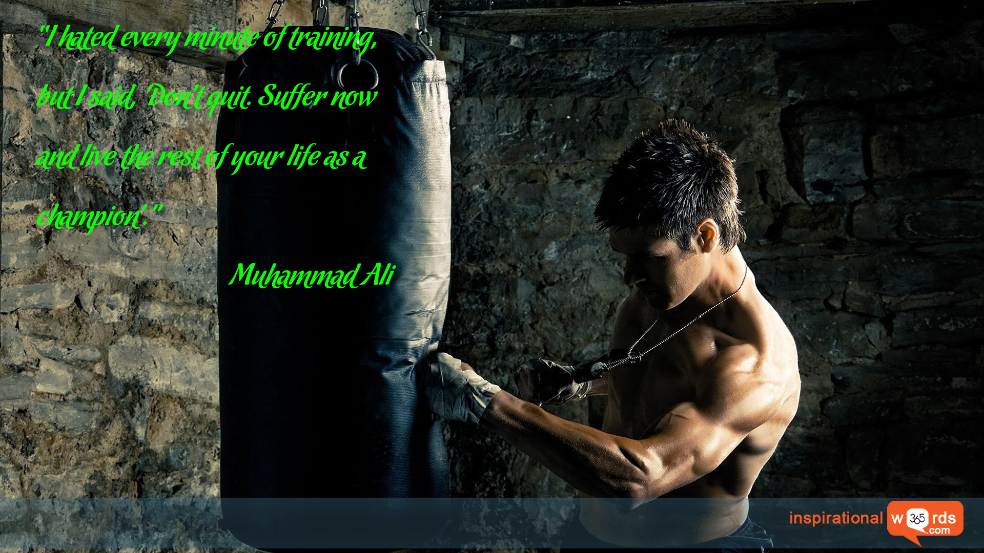 Inspirational Wallpaper Quote by Muhammad Ali