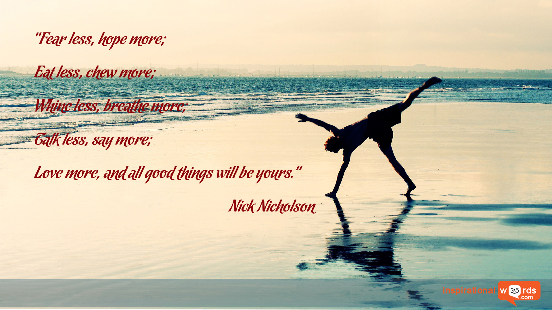 Inspirational Wallpaper Quote by Nick Nicholson