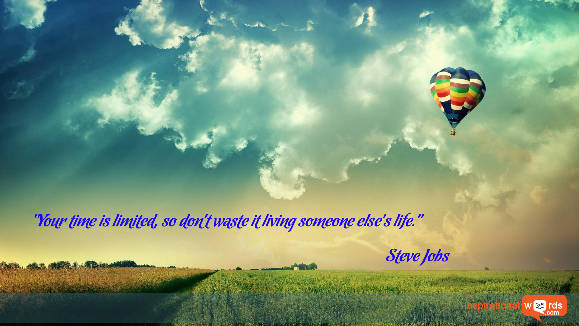 Inspirational Wallpaper Quote by Steve Jobs